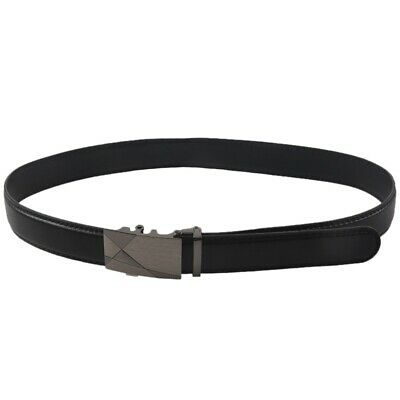 Luxury Black Leather Automatic Mens Casual Waistband Waist Strap Belt Belts A6P5