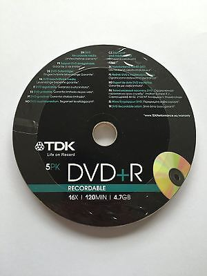 TDK DVD+R 120 Mins 4.7GB 16x Speed Recordable Blank Discs - 10 Pack Shrink Wrap