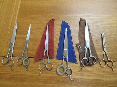 7 pairs of good quality dog grooming scissors (cost nearly £500 new)