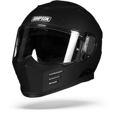 80ab49fd Simpson Venom Solid Matte Black Full Face Motorcycle Helmet - Free Shipping