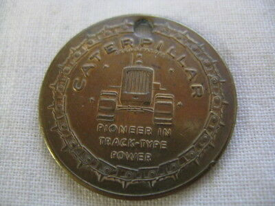 1905-54 50 Years On Track Caterpillar Pioneer Track-Type Power Medal Key Chain
