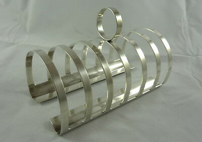 Wonderful German WMF Art Deco Mid-Century Bauhaus toast rack silverplate
