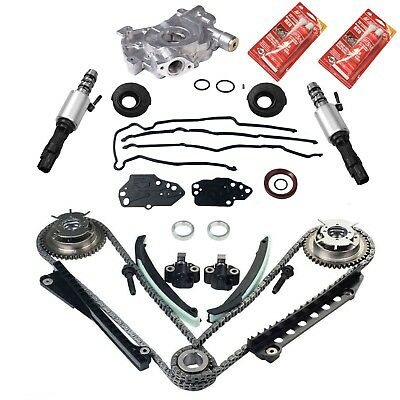 For 04-08 Ford Lincoln 5.4L Timing Chain Cam Phaser Solenoid Valve Oil Pump Kits