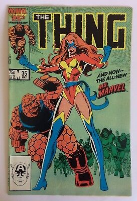 The Thing #35, May 1986, ft The All-New Ms. Marvel, F
