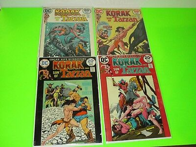 Korak Son of Tarzan #43 54 55 56 Nice Bronze Age DC Lot Run $.99 Auction