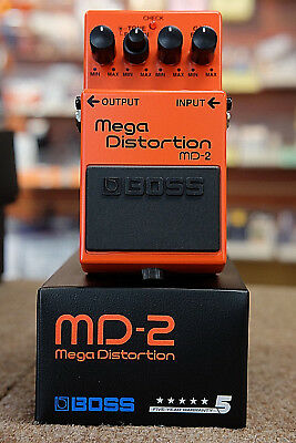 Boss MD-2 Mega Distortion Guitar Effect Pedal- NEW Free US Shipping