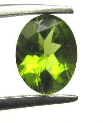 1 Piece Natural Green Colour Peridot Loose Gemstone 6X8mm Oval Faceted Cut S1058