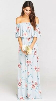 5a19e2a9b8b3a SHOW ME YOUR Mumu Hacienda Maxi Dress Flower Hour Sky~ Medium ...