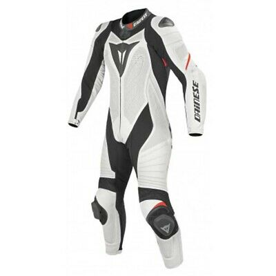 Dainese Laguna Seca Evo 1 Pc Perforated Lady Suit White Black Fluo Red