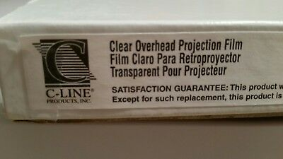 New C-Line Clear projection films-100 overhead projector transparencies-New!
