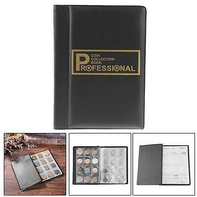 120 Coin Collection Book Professional Money Penny Storage Holder Pocket Album