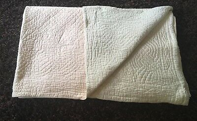 Large Antique Hand Stitched Durham Quilt