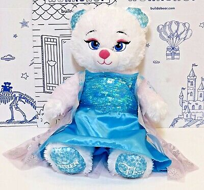 Build a Bear Disney Frozen Princess Elsa Plush Doll Dress Sound Costume Set Lot
