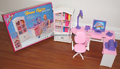 GLORIA DOLLHOUSE FURNITURE Home Office W/ Printer PLAYSET FOR BARBIE