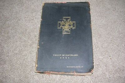 1923 Cleveland Ohio Masonic Book Accepted Scottish Rite Freemasonry