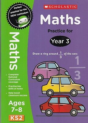 Maths Practice Book Age 7-8 KS2 Year 3 by Scholastic