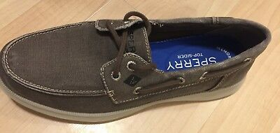 Sperry Top Sider Defender Canvas 2 Eye Faded Chocolate Boat Shoes