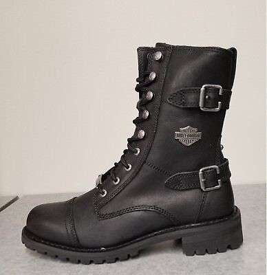 c83278c11ae HARLEY DAVIDSON WOMEN'S Balsa Black Cap Toe Boots Shoes - $159.95 ...