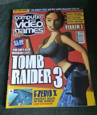 CVG COMPUTER AND VIDEO GAMES - GAMES MAGAZINE ISSUE 202 Tomb Raider 3