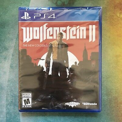 Wolfenstein II: The New Colossus - Sony PlayStation 4 PS4 - NIB - Free Shipping!