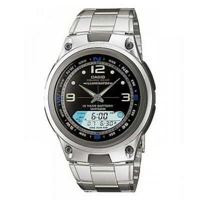 641361ec1 CASIO MEN'S AW-82-1AV 'Ana-Digi' Black Resin Watch - $59.99 | PicClick