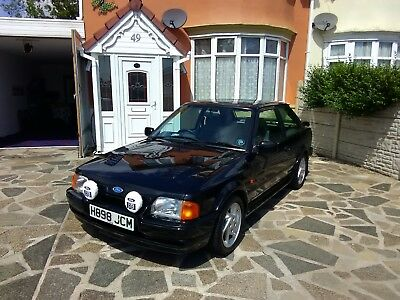 Ford Escort rs turbo s2 1990 - H Black IMMACULATE CONDITION ( SHOW WINNING ) RS