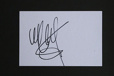 "WHITNEY HOUSTON signed card 6x4"" - Genuine Signature"