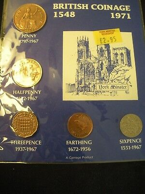 Great British Coins (package of 5 coins) 1944-1966