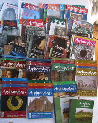 archaeology Ireland magazine 73 copies from 1989 to 2007 36 heritage guides