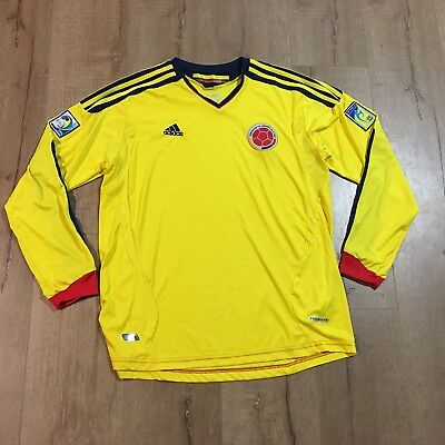 8a44d3637 Adidas Colombia National Team Soccer World Cup Jersey Mens L - FREE SHIPPING