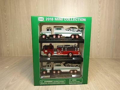 Hess 2018 Mini Collection 2 Truck & Racers 1 Fire Truck Models in Original Box