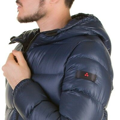 Down jacket PEUTEREY VELOSO MAN FEATHER NYLON RIPSTOP NAVY BLUE PEU2593 01181371
