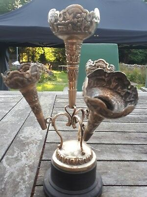 A Lovely Antique Ornate Silver 4 Trumpet Epern