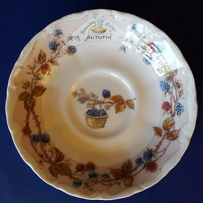 """Royal Doulton Brambly Hedge """"Autumn"""" Bone China 5-1/2"""" Saucer Replacement. 1983"""