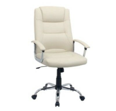 Niceday berlin leather-faced Executive Chair White **New*