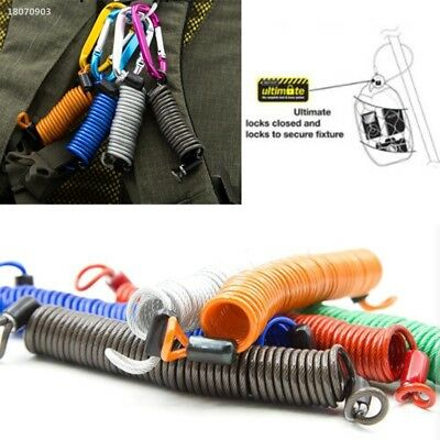 Anti-lost Safety Rope Elastic Lanyard Spring Coil Wire Keychain Flashlight CCD6