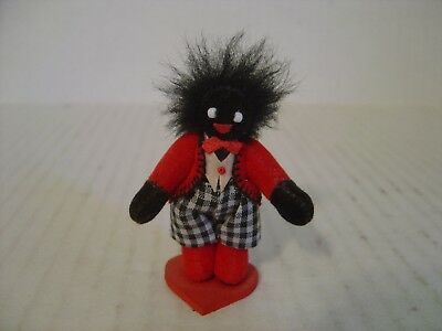 Vintage Black Memorabilia Miniature Minstrel Caricature Red And Black Outfit