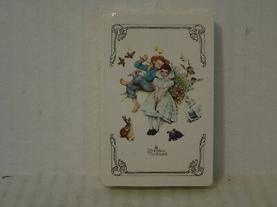 Vintage Sealed Trump Norman Rockwell Flute Serenade Playing Cards