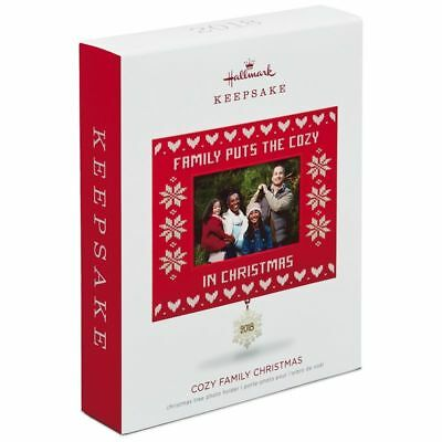 Hallmark Keepsake 2018 Cozy Family Christmas Photo Ornament