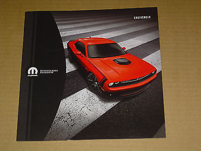 2016 DODGE CHALLENGER ACCESSORIES BROCHURE SHAKER HOOD PERFORMANCE WHEELS 16pp.