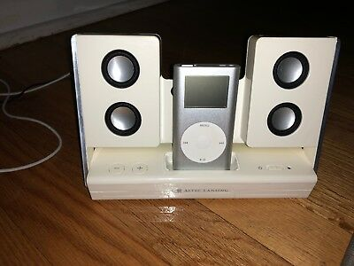 APPLE IPOD MINI 1st GENERATION SILVER (4 GB) USB + case  ITRIP + inmotion bundle