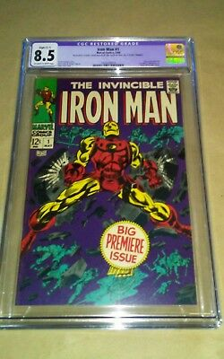 Iron Man #1 8.5 CGC Silver Age Marvel Comic Book Issue