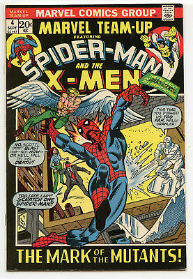 JERRY WEIST ESTATE: MARVEL TEAM-UP #4 (Marvel 1972) VF/NM Spider-Man & X-Men