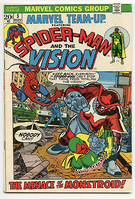 JERRY WEIST ESTATE: MARVEL TEAM-UP #5 (Marvel 1972) VG+ condition