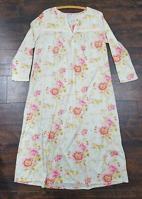 APRIL CORNELL for MARTHA M cottage floral nightgown M summer cotton pajamas
