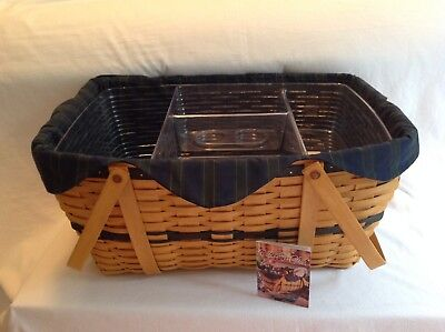 Longaberger 1999 Collector's Club Basket Family Picnic Combo New