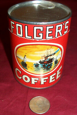 Old Folger's Coffee Can Puzzle Toy Ad Advertising Vintage Collectible Collector