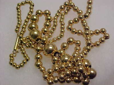 14k SCRAP GOLD 5.4 grams, 173 ADD-A-BEAD gold beads necklace,@NO RESERVE AUCTION