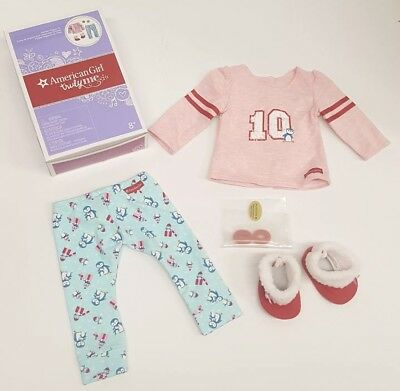 "American Girl Truly Me HOLIDAY PENGUIN PAJAMAS for 18"" Dolls {BRAND NEW IN BOX}"
