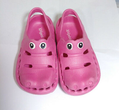 Childrens Pink Hippo styled like Crocs size 6 -- Excellent condition